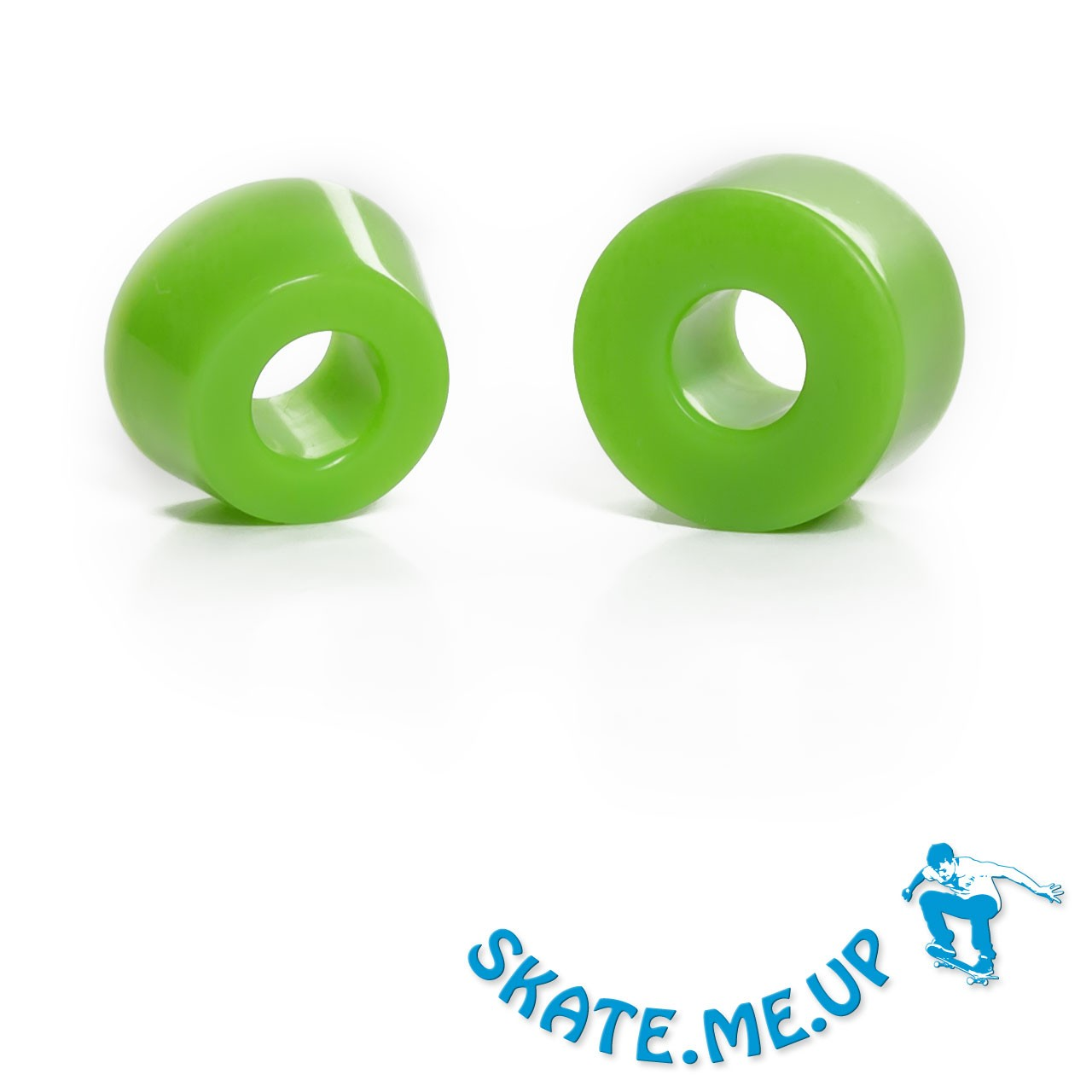 Skateboard / Longboard - Bushings - Lenkgummi Set für eine Achse - 85A grün (weicher)