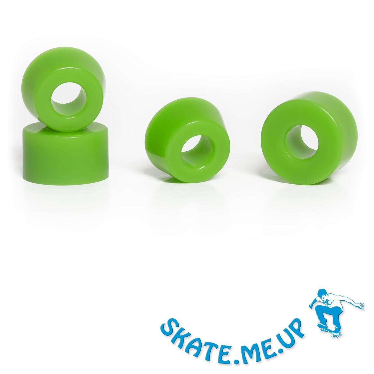 Skateboard / Longboard - Bushings - Lenkgummi Set für zwei Achsen - 85A grün [weicher]