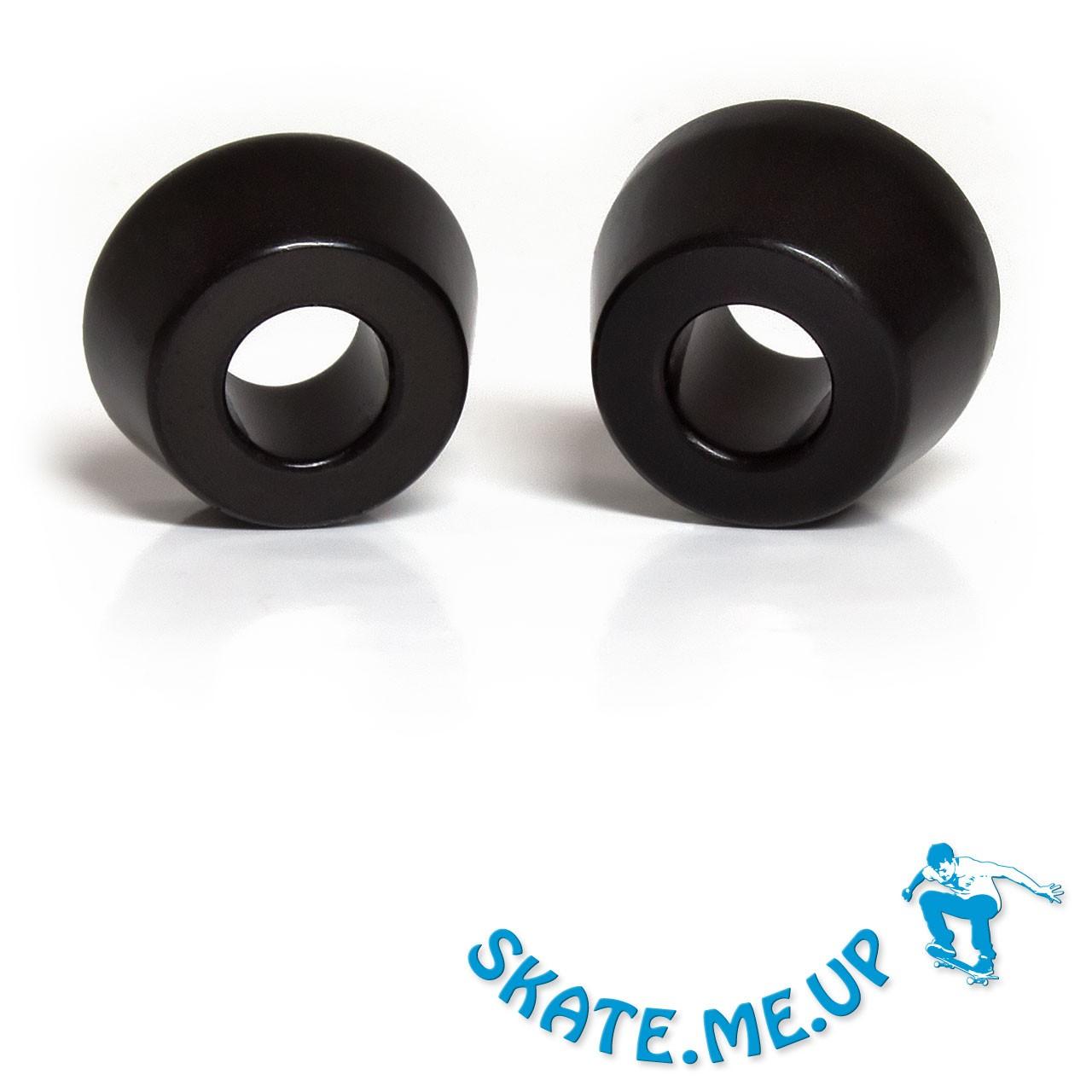 Skateboard / Longboard - Bushings - Lenkgummi Set für eine Achse - 85A schwarz konisch [weicher]