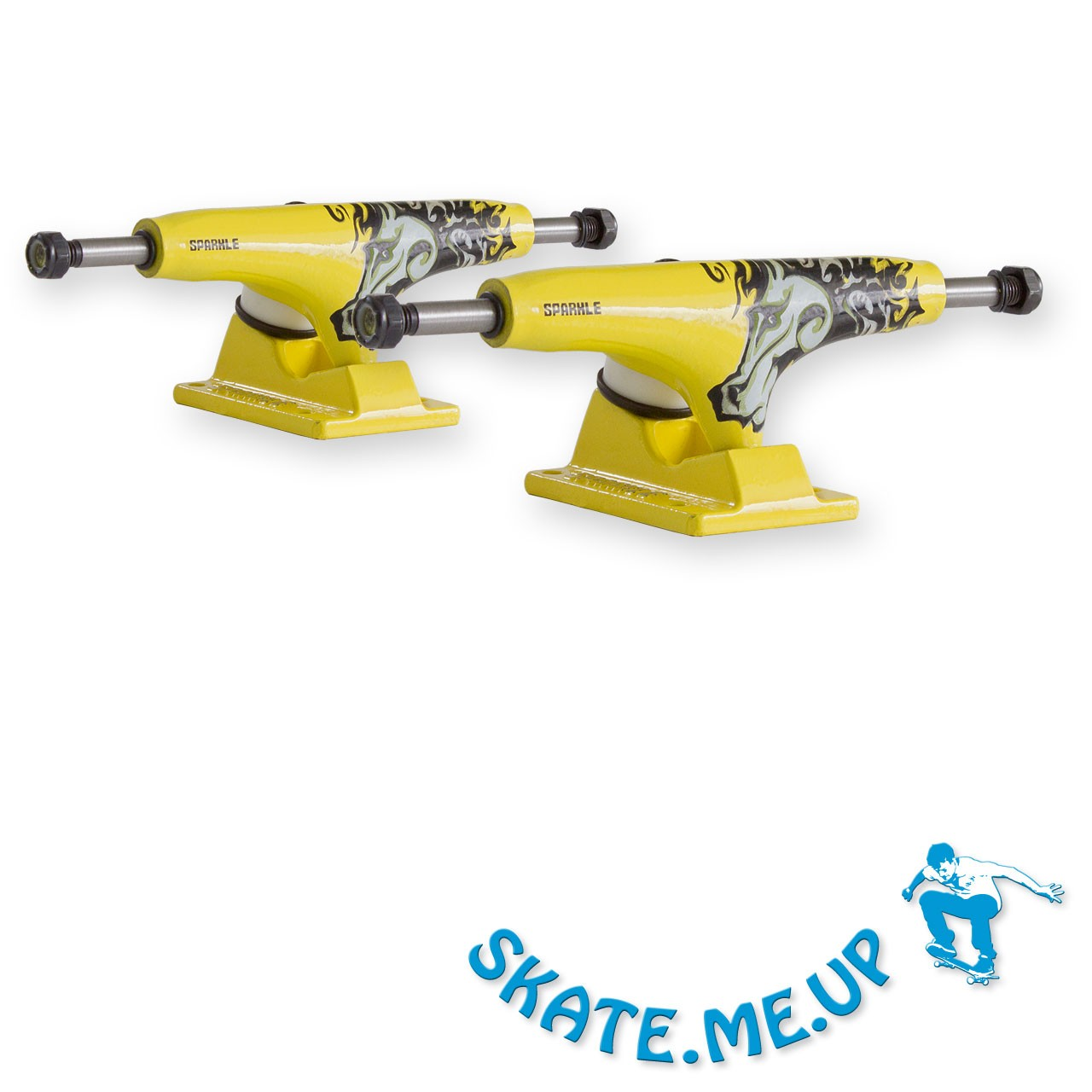 Sparkle-Superlite Yellow Horse 5,25 Mid Skateboard Achsen - Trucks (1 Paar)