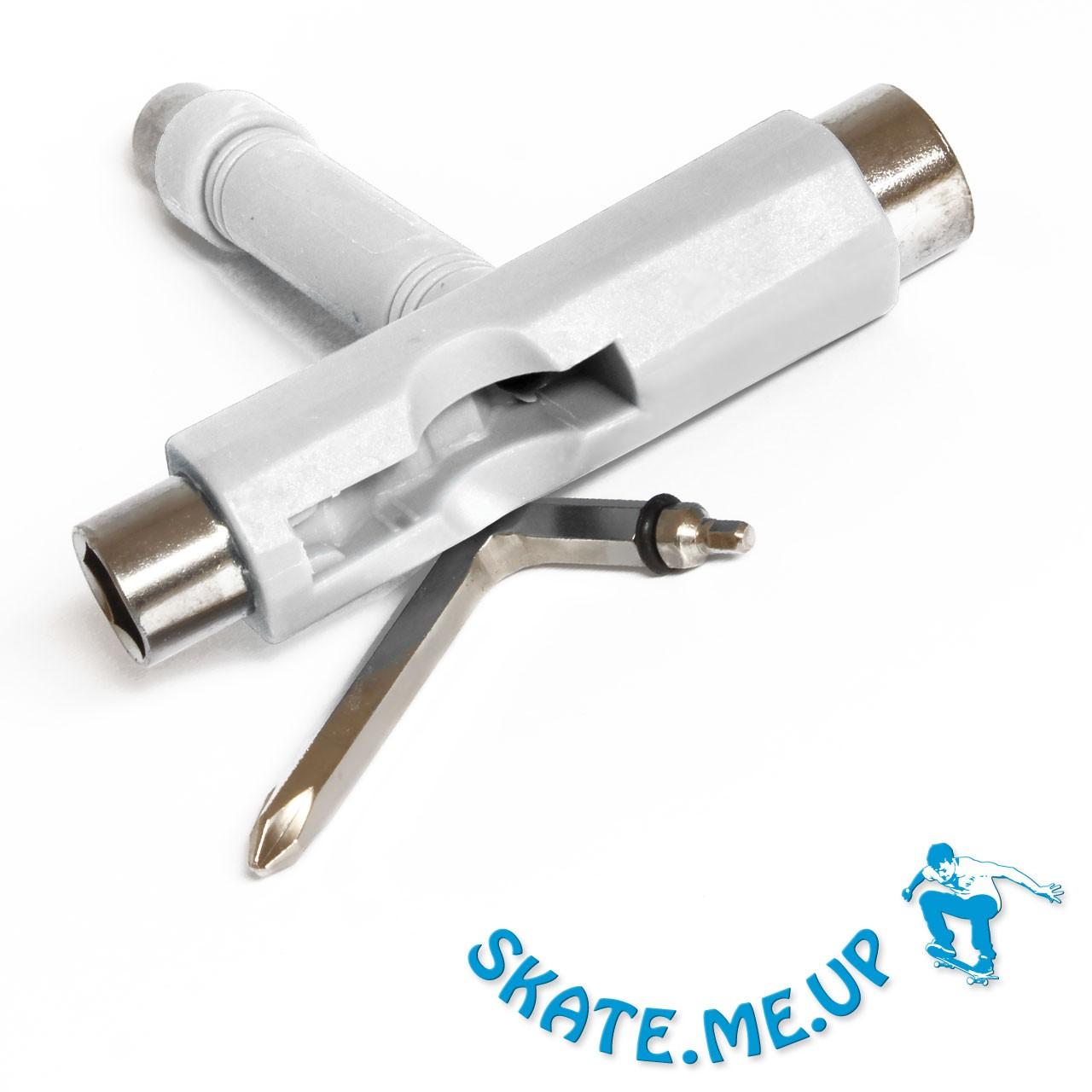 Skateboard  Longboard Werkzeug  T Tool  Skate Tool Weiß