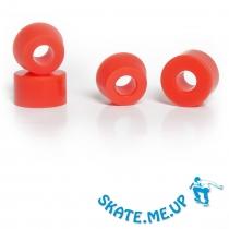 Skateboard  Longboard  Bushings  Lenkgummi Set für zwei Achsen rot 100A [super hart]