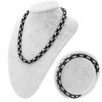 Byzantiner Königskette Armband Panzerkette Edelstahl Farbe silber schwarz