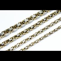 Byzantiner Königskette Armband Panzerkette Edelstahl Herren  silber gold 16-110 cm