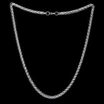 Panzerkette Königskette Zopfkette Halskette Armband Edelstahl Schmuck