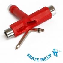 Skateboard Werkzeug  T-Tool , Skate Tool rot