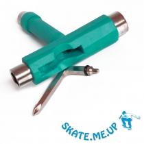 Skateboard / Longboard Werkzeug  T-Tool , Skate Tool türkis