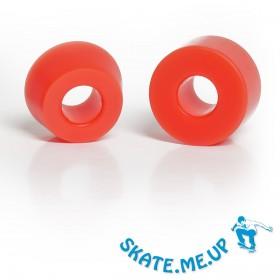 Skateboard / Longboard - Bushings - Lenkgummi Set für eine Achse - rot 85A (weicher)