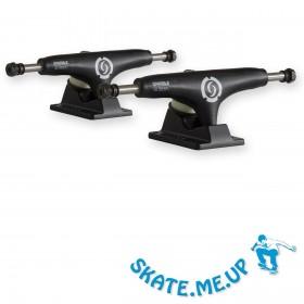 """2 x 5,25"""" Titanium Mid Hanger Black Skateboard Achsen"""