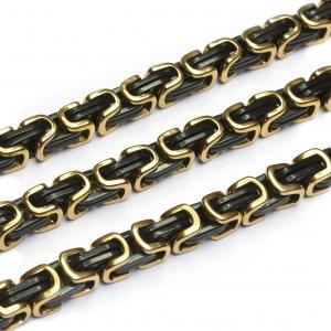 Byzantiner Königskette Armband Panzerkette Edelstahl Farbe gold schwarz 6,5 mm