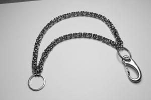 Hosenkette Edelstahl Schlüsselkette Biker Königskette Ringe 30-80