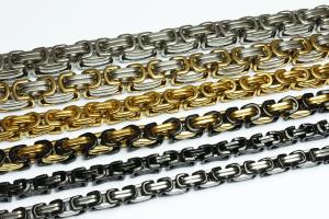 Byzantiner Königskette Halskette Armband Panzerkette Edelstahl silber gold schwarz 19 - 70cm