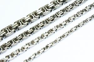 Königskette Edelstahl Halskette Armband Panzerkette Silber 6,5 mm