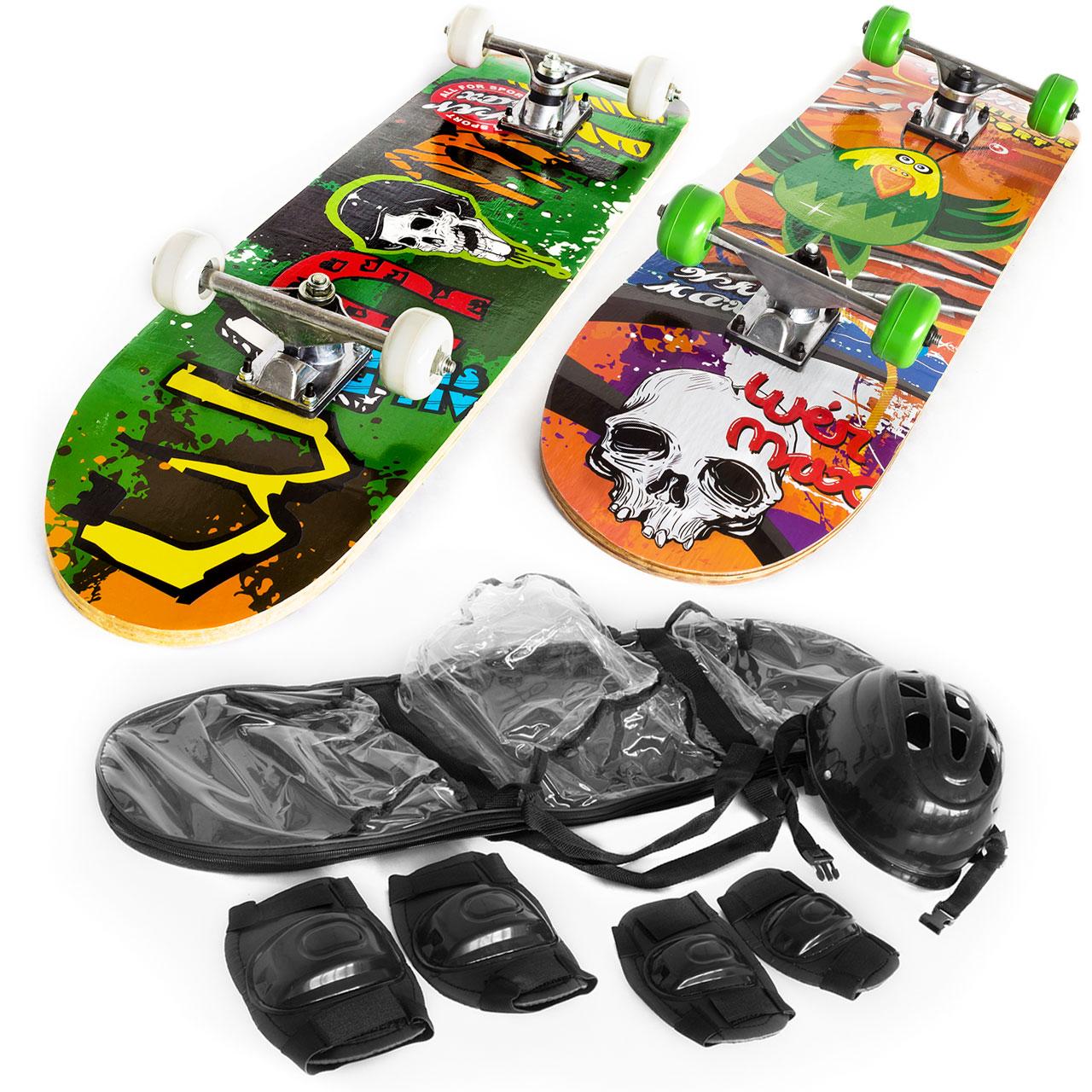 Kinder Skateboard mit Schutzset